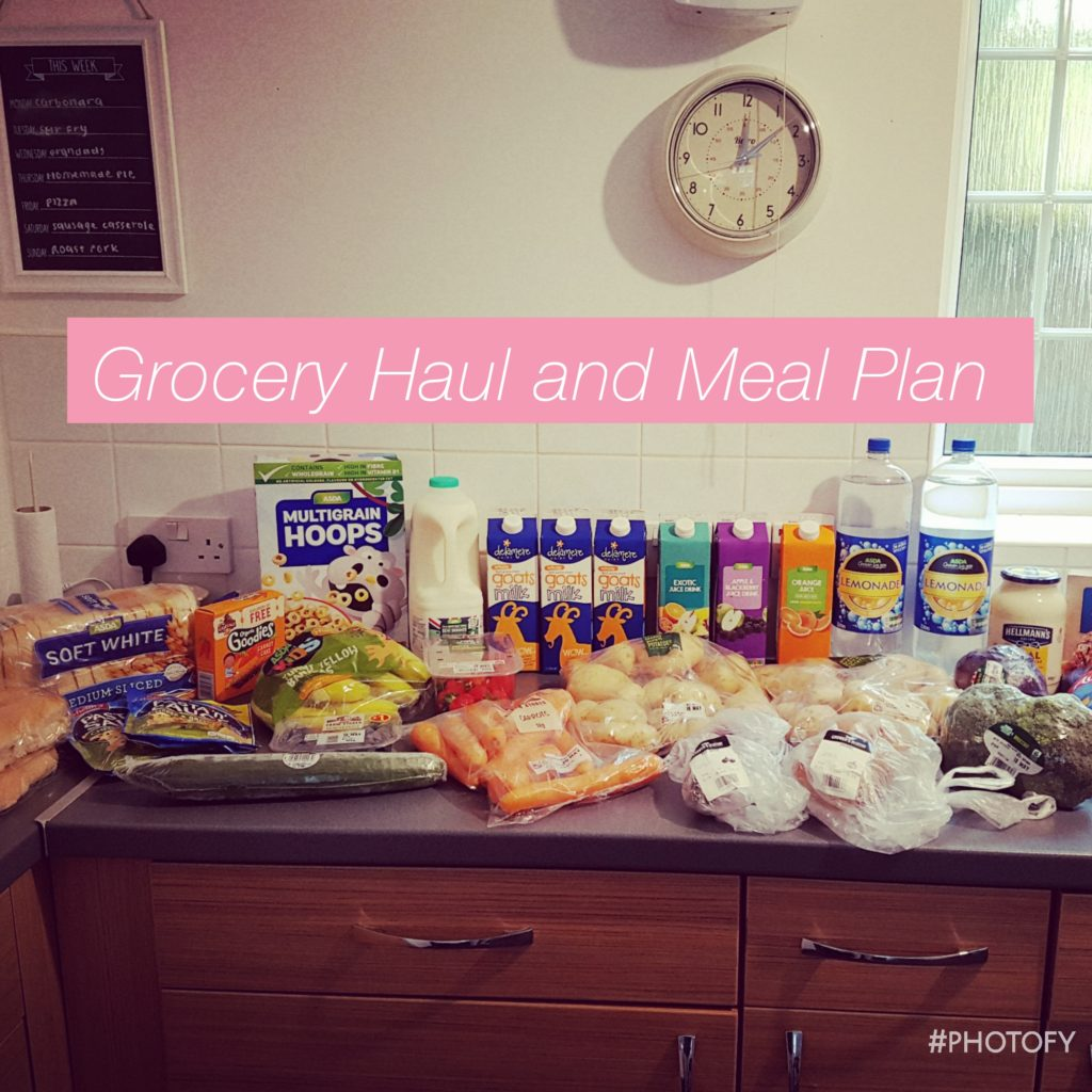 Grocery haul & meal plan