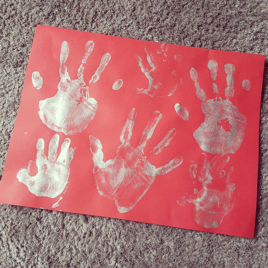 Messy play with a toddler