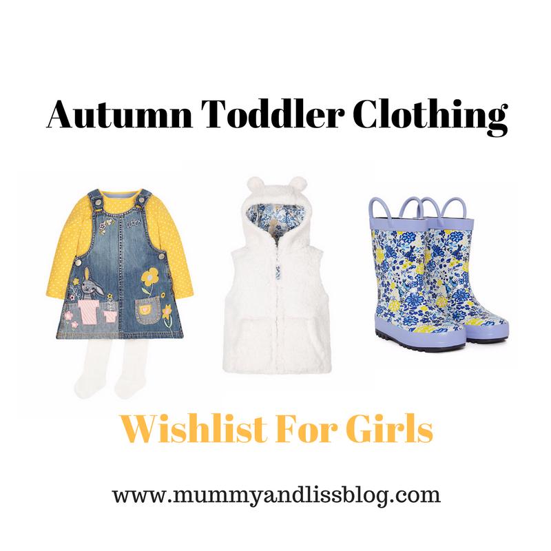 Autumn Toddler Clothing Wishlist for Girls