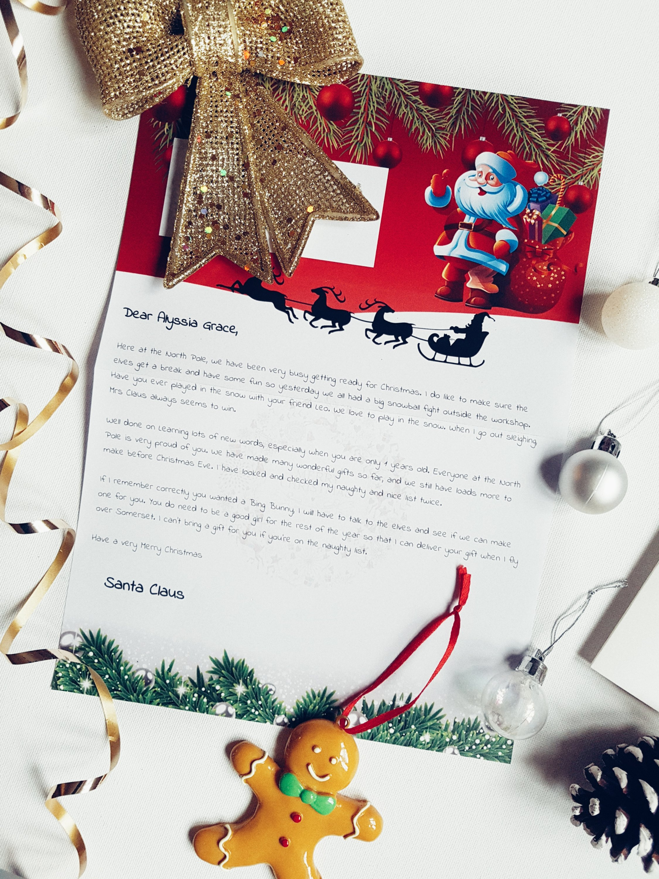 Win A Letter From Santa  Mummy  Liss