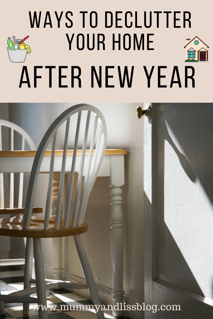 Declutter your home, a new years checklist