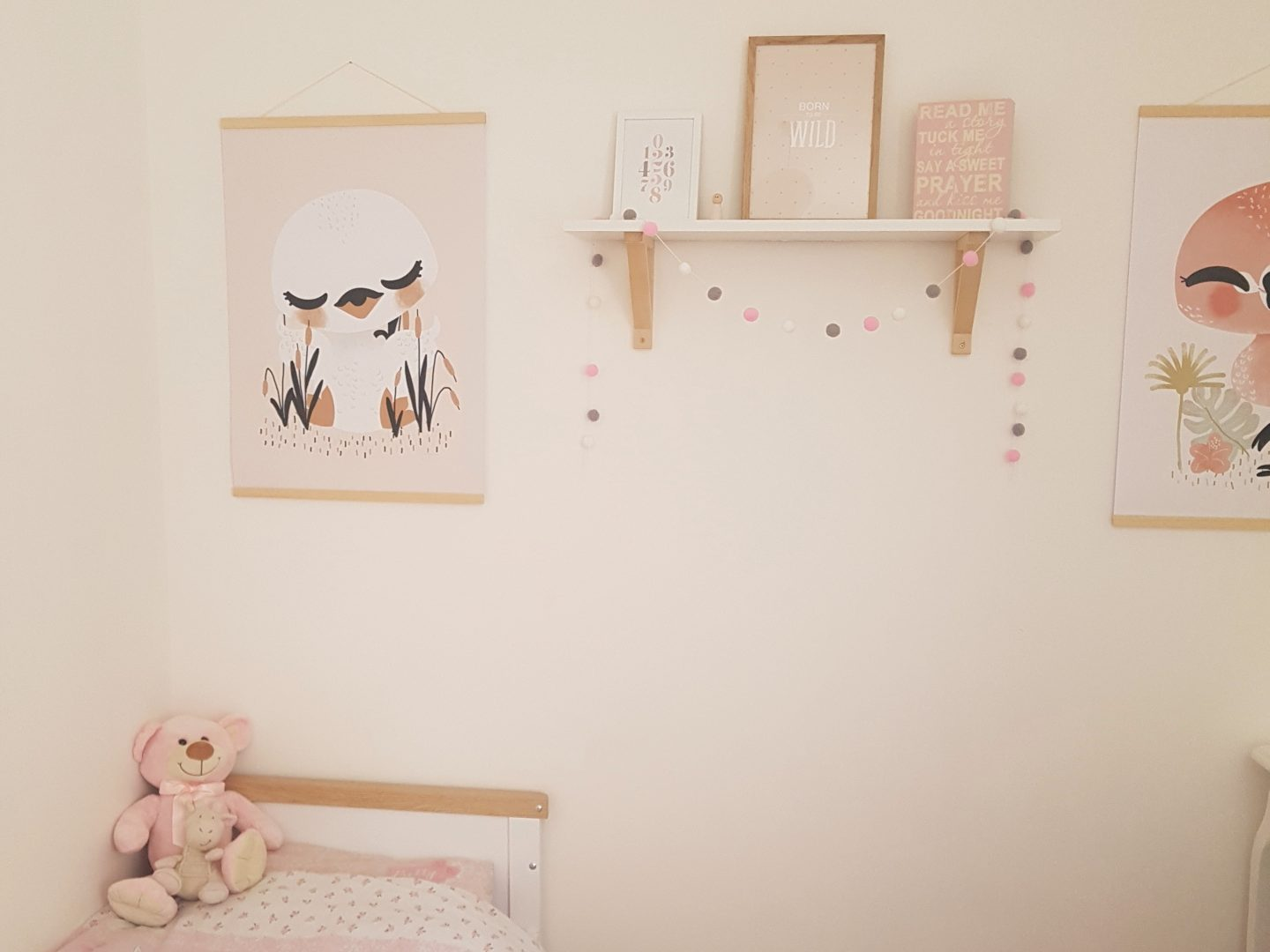 Choosing Prints for the Girls Nursery with Desenio