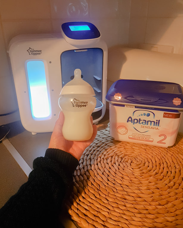 Preparing a Bottle of Aptamil Sensavia Follow On Milk